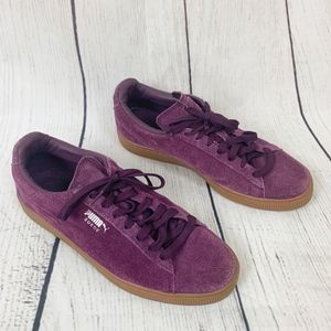 Puma Suede Casual Low Top Sneakers Plum Gum 9